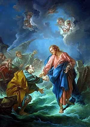 St-Peter-Invited-To-Walk-On-The-Water-Francois-Boucher
